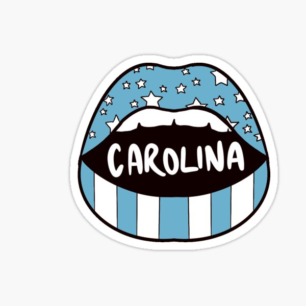 Carolina Lips Sticker