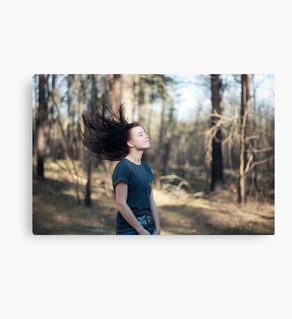 Hair flip Canvas Print