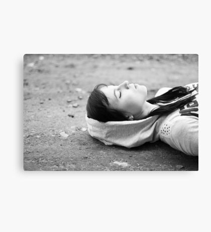 On the ground Canvas Print