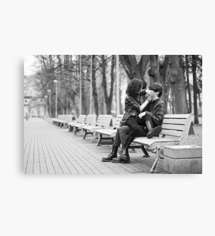 Couple in park Canvas Print