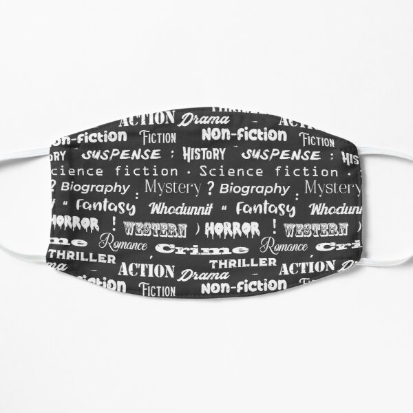 Book Genres Typographic Print Mask