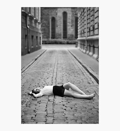 Laying on the ground Photographic Print