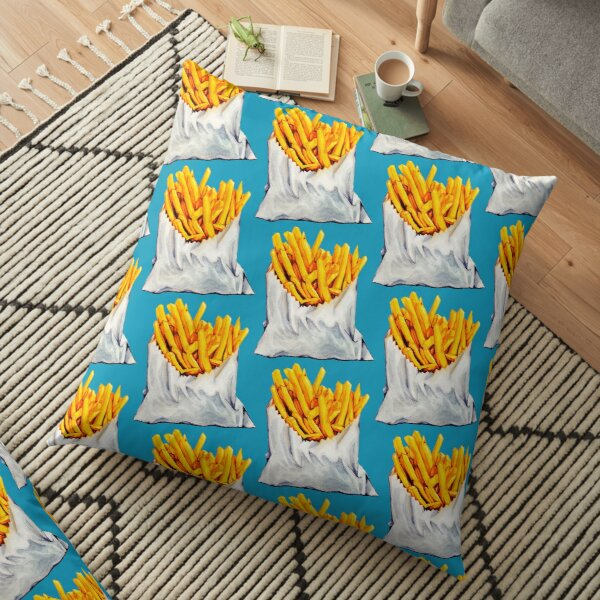 French Fries Pattern Floor Pillow
