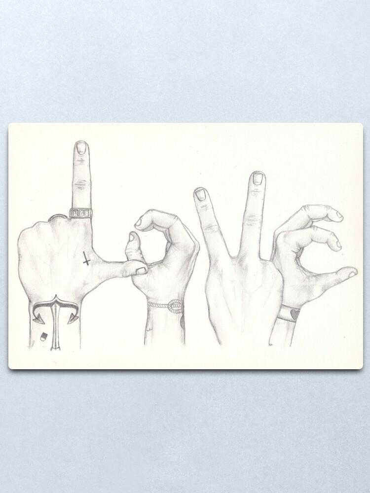 Alternate view of LOVE Always Wins (Harry and Louis) Metal Print