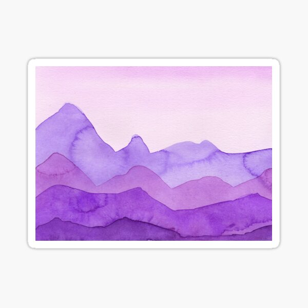 Berge in Violett, Magenta, Lila,  Sticker
