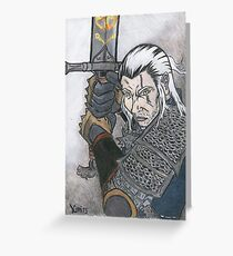 THE WITCHER COLOR Greeting Card