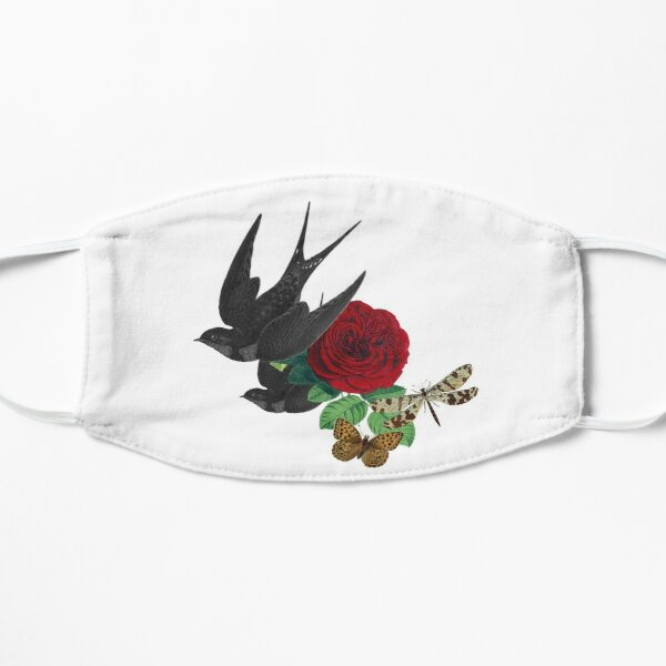 Vintage Swallows and Rose Mask