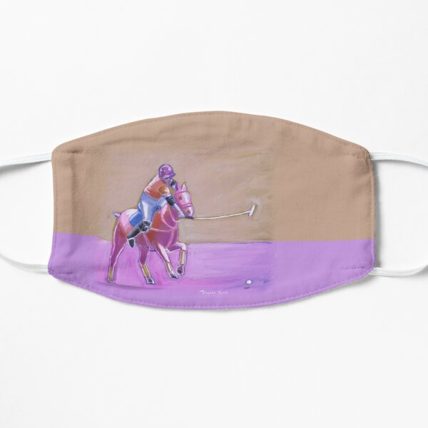 polo player taupe-lilac Mask
