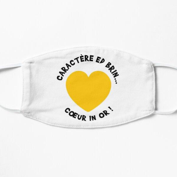 Caractère ed brin... Coeur in or ! Masque sans plis