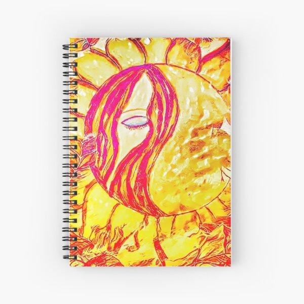 The Sunflower Goddess Spiral Notebook