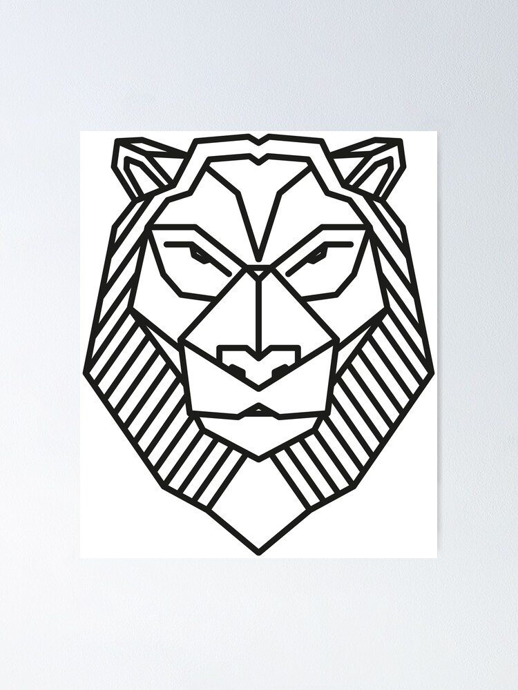 Lion Black Outline Poster By El3zab Redbubble Lion outline for cake ideas and designs. lion black outline poster by el3zab redbubble