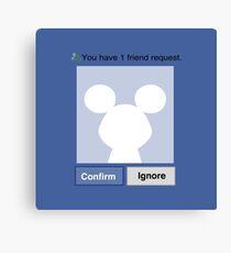 Friends? Micky Canvas Print