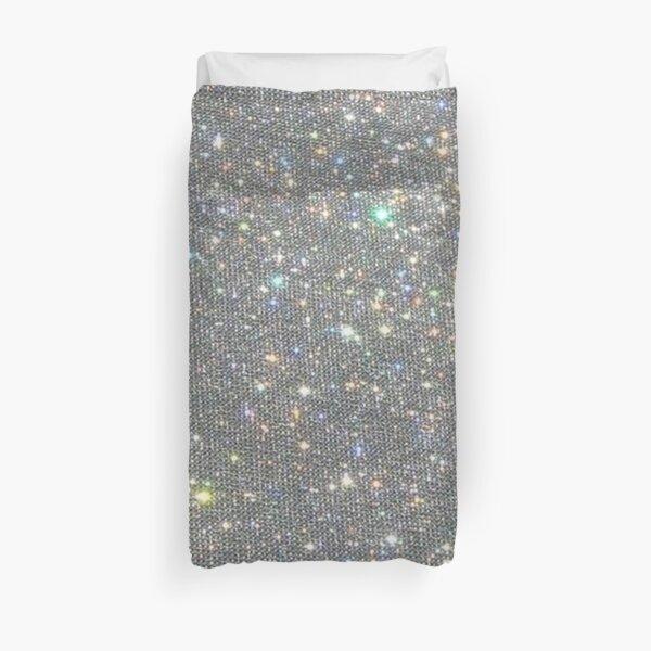 Silver Sparkle Glitter Design Duvet Cover
