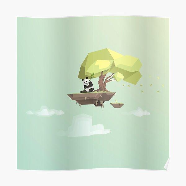 Poly Panda Bear Poster