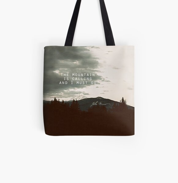 Muir: Mountain All Over Print Tote Bag