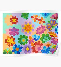 FLOWER FIGUREN - AQUAREL Poster