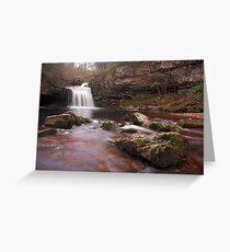 West Burton falls - Yorkshire Dales Greeting Card