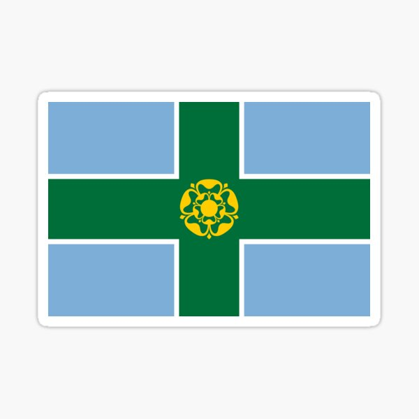 Derbyshire flag Sticker
