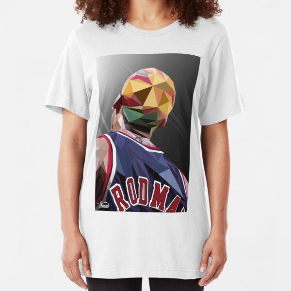 DENNIS RODMAN / LOW POLY Slim Fit T-Shirt
