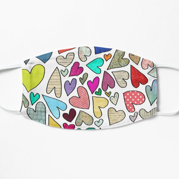 A World of Hearts 2 - Bright, Whimsical and Colorful Heart Artwork Mask