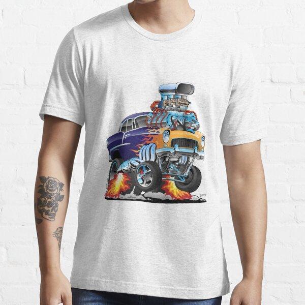 Classic Fifties Hot Rod Muscle Car Cartoon Essential T-Shirt