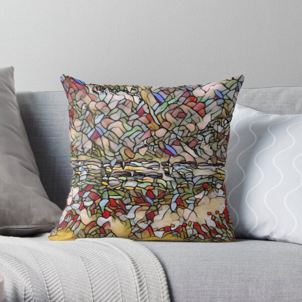 Holiday Dreaming 27 designed and created by (c) Janet Watson Art Throw Pillow