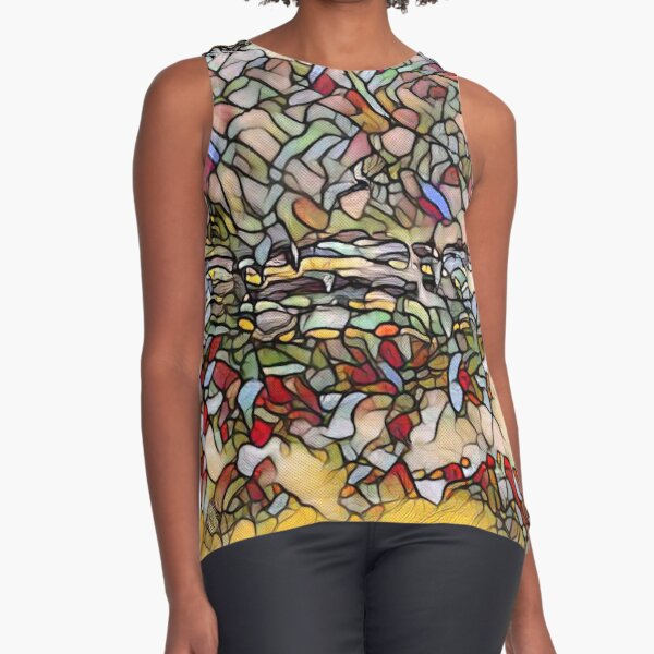 Holiday Dreaming 27 designed and created by (c) Janet Watson Art Sleeveless Top