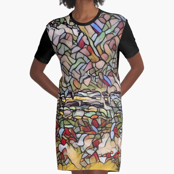 Holiday Dreaming 27 designed and created by (c) Janet Watson Art Graphic T-Shirt Dress