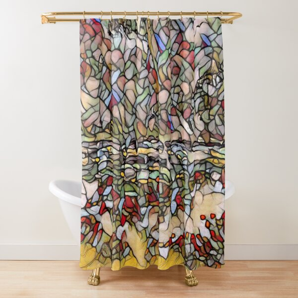 Holiday Dreaming 27 designed and created by (c) Janet Watson Art Shower Curtain