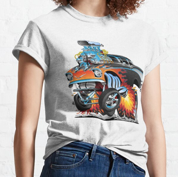 Classic hot rod 57 gasser drag racing muscle car cartoon Classic T-Shirt