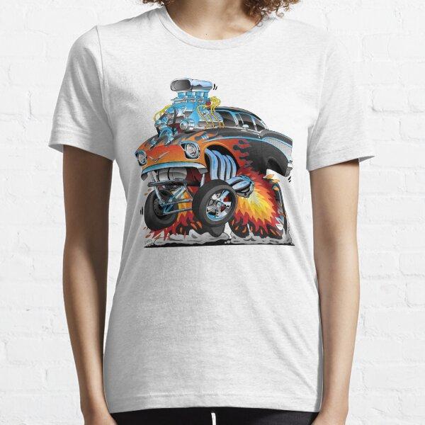Classic hot rod 57 gasser drag racing muscle car cartoon Essential T-Shirt