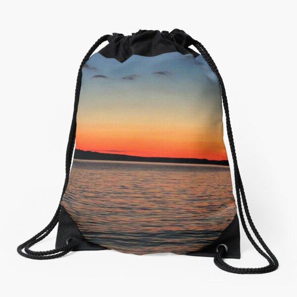 Sunset on the Sea Drawstring Bag