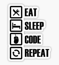 Eat, Sleep, Code, Repeat! Sticker