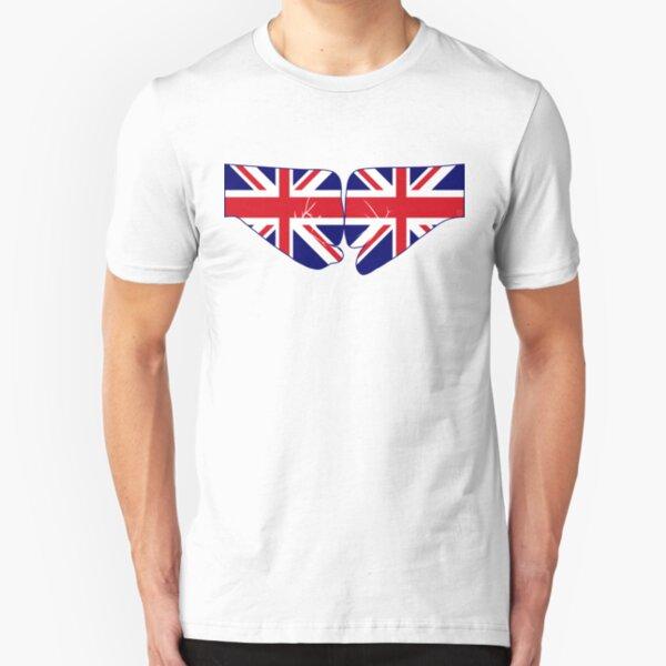 UK Fist Bump Patriot Flag Series Slim Fit T-Shirt