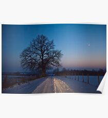 roadside sentry - a cold night Poster