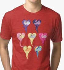 Group Heart Tri-blend T-Shirt