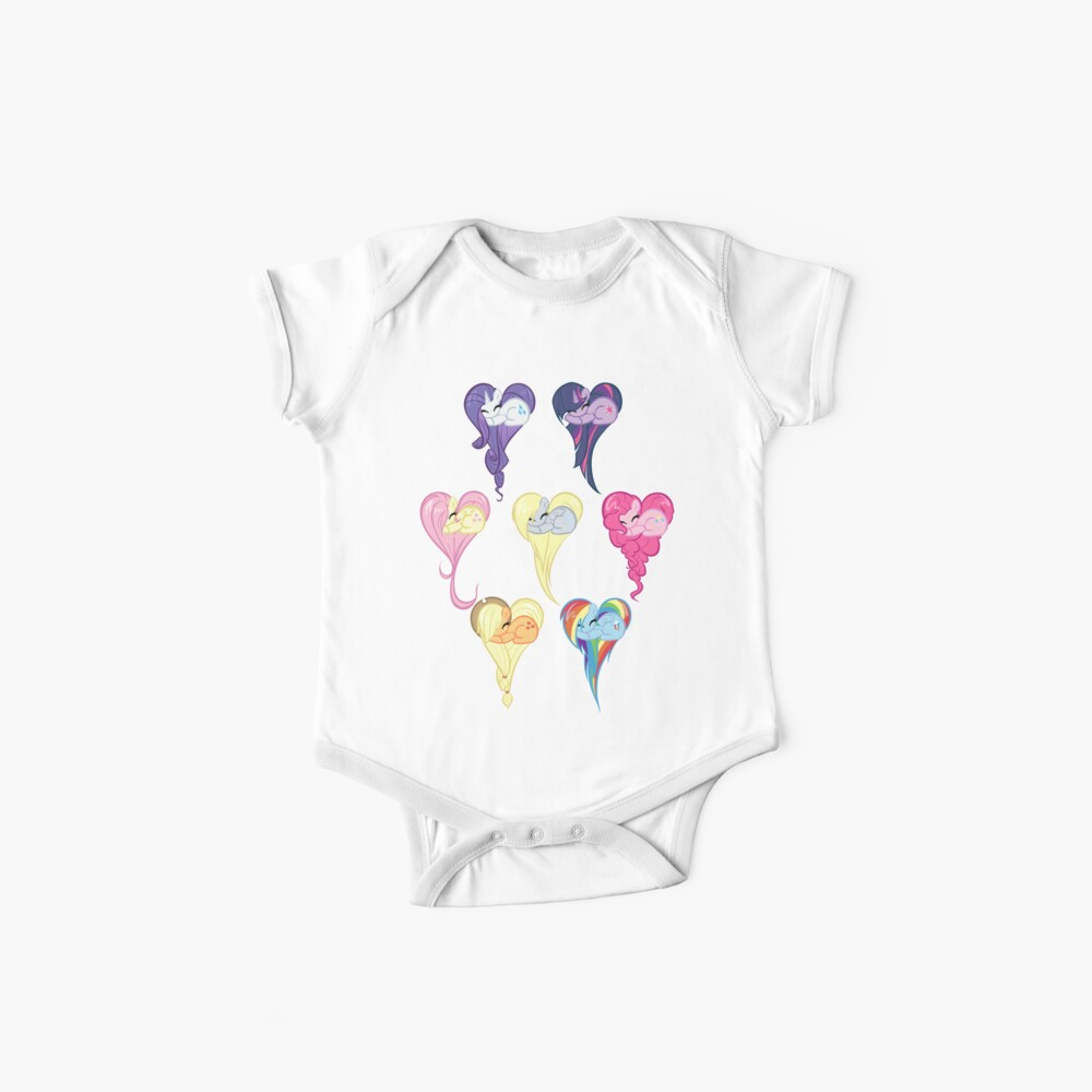 Group Heart Baby One-Piece