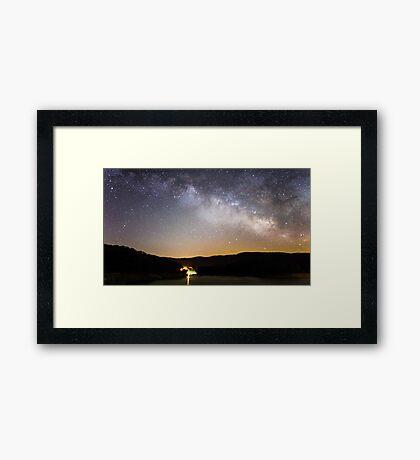 Galactic Night Framed Print