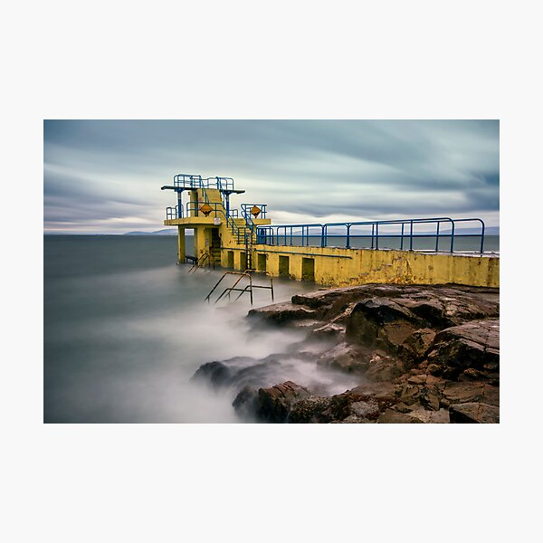 Blackrock Diving Tower Salthill Galway Ireland. Photographic Print