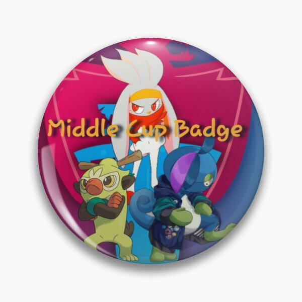 Middle Cup Badge Pin