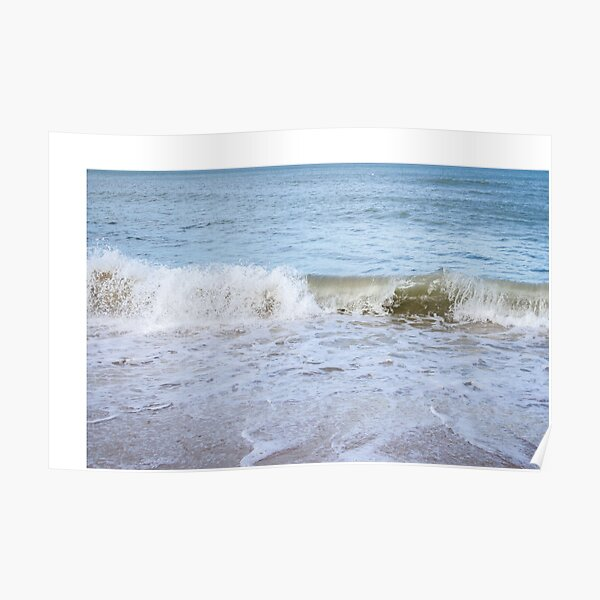 Ocean Waves on the Beach Poster