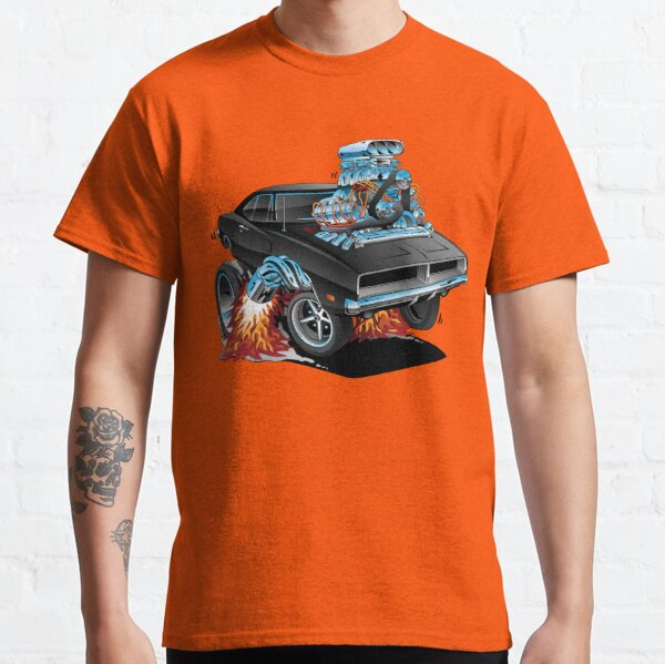 Classic 69 American Muscle Car Cartoon Classic T-Shirt
