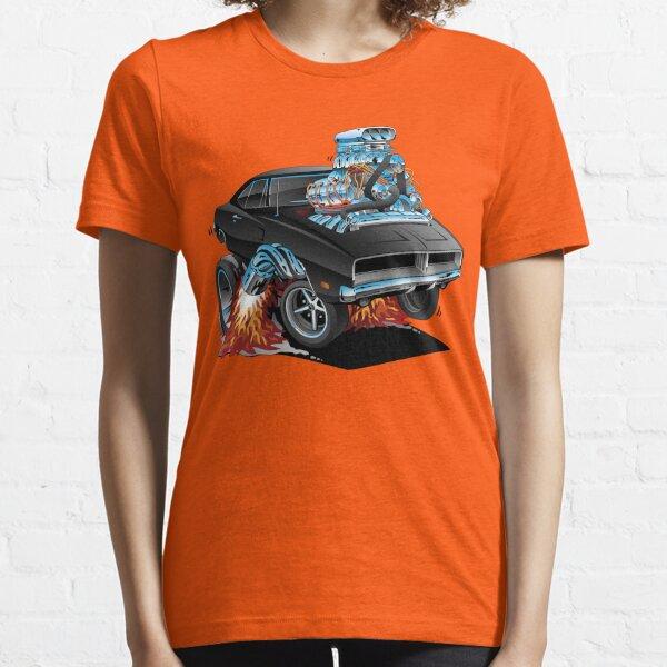 Classic 69 American Muscle Car Cartoon Essential T-Shirt