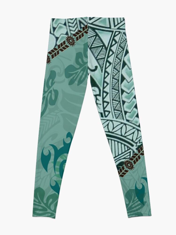 Alternate view of Hawaiian Tapa Cloth - Traditional Print  Leggings