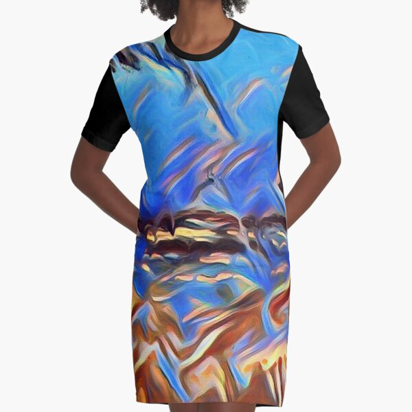 Holiday Dreaming 24 designed and created by (c) Janet Watson Art Graphic T-Shirt Dress