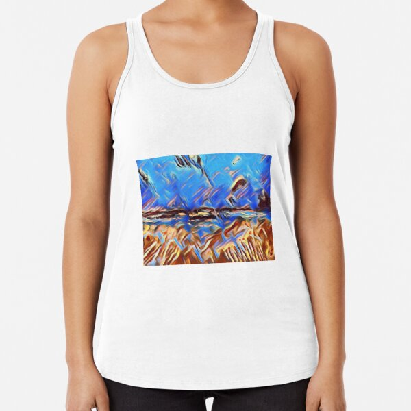 Holiday Dreaming 24 designed and created by (c) Janet Watson Art Racerback Tank Top
