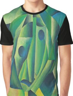 Cubist Abstract Of Village Woman Wearing A Headscarf Graphic T-Shirt