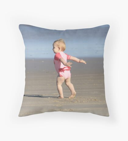 Miss Adelyn Feeling Free Throw Pillow