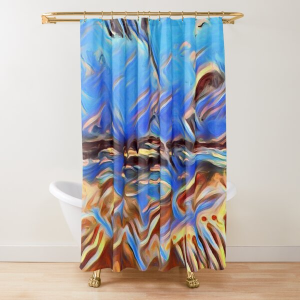 Holiday Dreaming 24 designed and created by (c) Janet Watson Art Shower Curtain