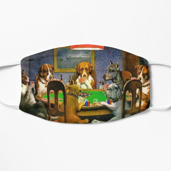 DOGS PLAYING POKER. A Friend in Need. Cassius Marcellus Coolidge. 1903. Mask